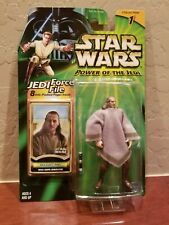 "Star Wars POTJ 3.75"" Qui-Gon Jinn Mos Espa Disguise with Jedi Force File"