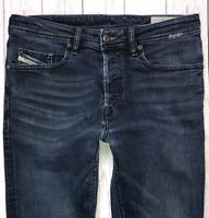 Mens DIESEL Buster Jeans W30 L30 Blue Regular Slim Tapered Wash R46D8 STRETCH