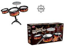 KIDS DRUM KIT DESKTOP Musical Instrument Desk Table Top Toy Christmas Gift UK