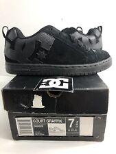 DC Shoes Men's Court Graffik Sneaker Shoes Black Kicks Trainers Sports Size 7.5