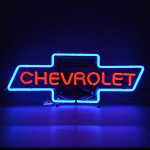 Chevrolet Neon sign Chevy Trucks Bowtie Licensed by GM SS El Camino Nova Impala