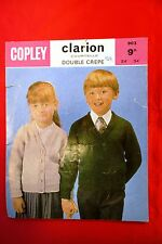 """Vintage Knitting Pattern Copley Double Crepe  No 903  pulover / cardigan 24-34"""""""