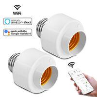 Smart WiFi Light Bulb Socket Adapter E26/E27 Switch W/ Amazon Alexa Google Home
