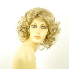 Perruque femme mi-longue blond méché blond très clair KAISSY 15t613