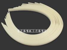 Lot 12 serre-tête bandeau de cheveux fille femme plastique beige 10mm headband