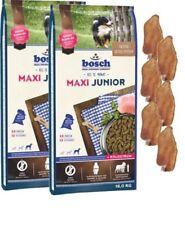 2x15kg Bosch Junior Maxi  + 6 x Kaninchenohren