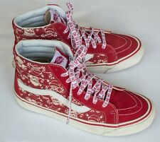 Vans Sk8 50th Anniversary STV Red White Pirate Skull Christmas Men 8.5 /10 Women