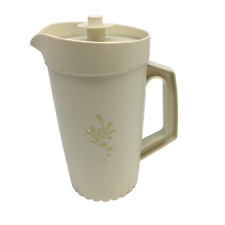 Tupperware Pitcher with Push Button Lid 1 qt. Vintage Harvest