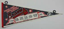 Vintage 1992 World Series NLCS Champions Atlanta Braves 30x12 Pennant