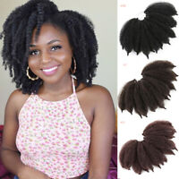 "8"" Afro Kinky Curly Crochet Braids Jumpy Bounce Curls Synthetic Hair Extensions"