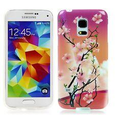 Samsung Galaxy s5 Mini silicone protection case housse étui Blossom Fleurs Cerisier