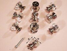 lot de 10 Poignée Bouton Cristal Porte Diamant Verre Tiroir Strass Meuble