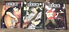 Beck Volumes 2 3 9 Mongolian Chop Squad Manga Paperback Books by Harold Sakuishi