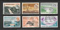 1960 Queen Elizabeth II SG32 to SG37 KARIBA SET Fine Used RHODESIA & NYASALAND
