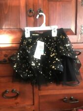Hello Kitty Tutu Black With Gold Stars And Bows Super Cute Size 5 Evy New W Tags