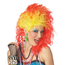 True Colors Wig Adult Costume Cyndi Lauper 80's Pop Singer Glam Punk Neon
