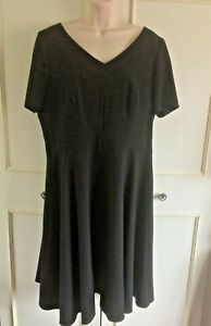 BNWT MARKS & SPENCER black fit & flare dress - Size 16 - RRP £39.50