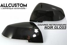 ENJOLIVEURS NOIR BRILLANT COQUES COQUILLES RETROVISEURS pour BMW X1 E84 2012-17