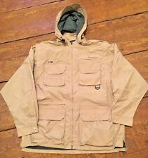 EXOFFICIO Mens Jacket hood Vest Tan Travel Wear Fishing Hiking NWOT XL #345