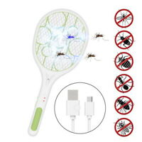 Rechargeable Electric Fly Insect Racket Zapper Killer Swatter Bug Mosquito -Gift