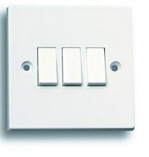 3 gang 2 way switch LG203 light electrical wall switch white moulded Selectric