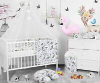 BABY BEDDING SET 3 6 10 14 PC BUMPER PILLOW DUVET FIT COT COTBED 140x70 120x60