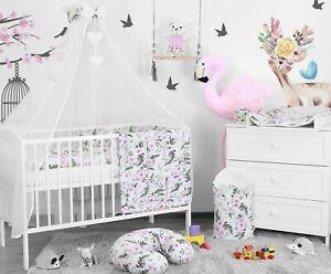 BABY BEDDING SET 3 6 10 14 PC BUMPER PILLOW DUVET FIT COT COTBED 140x70 120x60