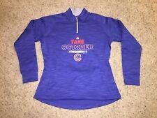 Chicago Cubs Majestic 2015 Postseason Take October 1/4 Zip Sweatshirt Women's L