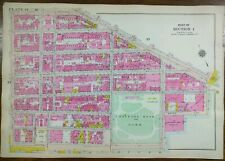 Vintage 1916 Lower East Side Manhattan New York City Map Broadway Grand Madison