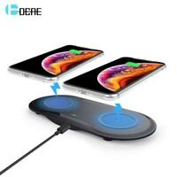 20W Fast Wireless Desktop Charging Station For Samsung S10 S9 S8 10W Dual