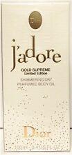 Christian Dior J'adore Gold Supreme Perfume Body Oil 3.4 oz 100 ML New Rare