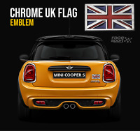 British UK Flag  Badge Emblem Decal England Car Truck Gunmetal Sticker