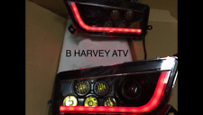 POLARIS GENERAL 1000 BLACK & RED LED ANGLE EYE HEADLIGHTS CONVERSION KIT -halo