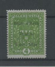 OCCUPAZIONI TRENTINO 1918 4K * CENTRATO CERT.