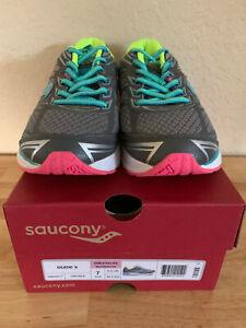 Saucony Guide 9 Girl's Running Shoe, Grey, US 7, S98000-7, NEW