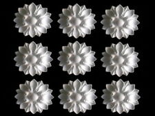 DECORATIVE MIRROR MOULDINGS NINE FRENCH ROUND WHITE PETALS