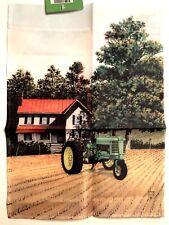 John Deere Green Farm Field Crop Tractor Mini Window Garden Yard Flag New