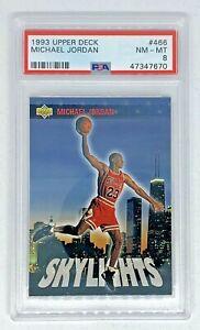 1993-94 Upper Deck MICHAEL JORDAN Skylights Chicago Bulls PSA 8 Near Mint