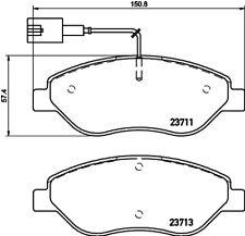 Mintex Front Brake Pad Set MDB3318  - BRAND NEW - GENUINE - 5 YEAR WARRANTY