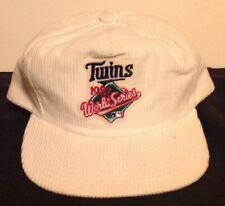 Minnesota Twins 1987 World Series Champions Corduroy SnapBack Cap NEW MLB