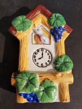 Vintage Lusterware Coo Coo Clock Wall Pocket Made In Occupied Japan, Ceramic