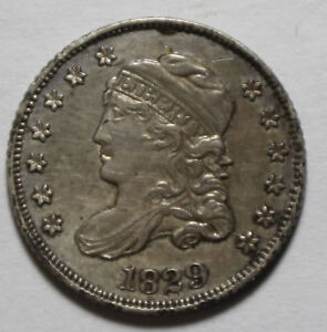 1829 Capped Bust Half Dime FR4