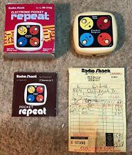 Vintage Radio Shack Electronic Pocket Repeat Game 60-2152 w/ Box & Instructions