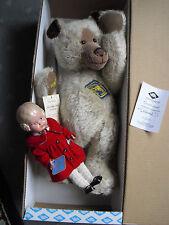 großer Sammlerbär von 2001 *Schildkröt* mit Puppe,limitiert, noch verpackt !