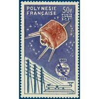 POLYNESIE POSTE AERIENNE N°_10 UNION INTERNATIONALE TELECOMMUNICATIONS (1965)