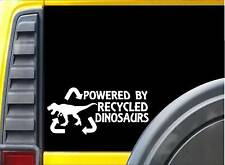 Powered by Recycled Dinosaurs K244 Sticker 8 inch t rex decal