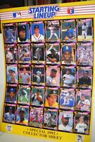1992 Kenner Starting Lineup SLU Baseball Card uncut collector sheet 16x22 poster