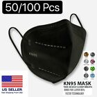 50/100 Pcs Black KN95 Protective 5 Layer Face Mask BFE 95% Disposable Respirator <br/> All KN95 Masks individually packaged