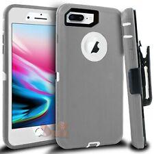For iPhone 6 6s 7 8 Plus Defender Hard Rugged Shockproof Case Cover W/ Belt Clip