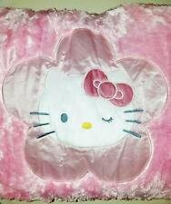 HELLO KITTY BODY PILLOW FAUX SHIMMER FUR SHAGGY SATIN SOFT LIGHT PINK 50X15 NWT